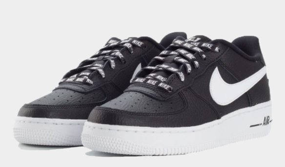 Фото Nike Air Force 1 LV8 NBA черно-белые - 3