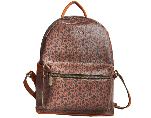 Фото кожаный коричневый рюкзак DKNY - 3